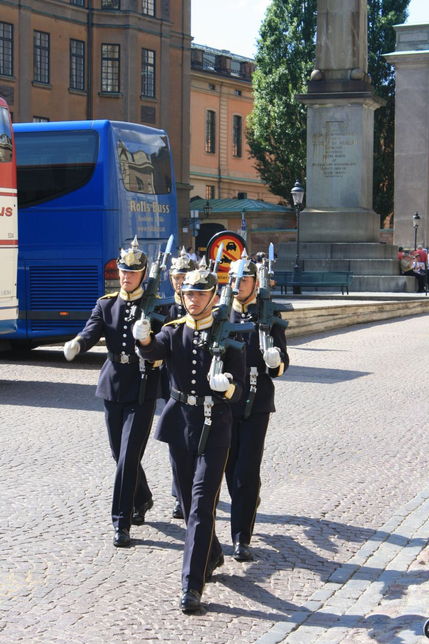 Guards at the Royal Palace in Stockholm