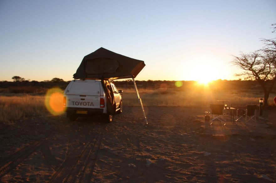 Camping in the Kalahari Desert