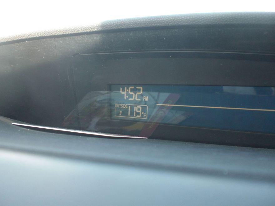 119 degrees Fahrenheit