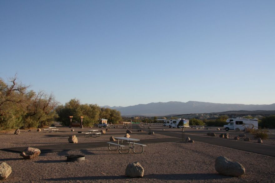 Campsite in Furnace Creek