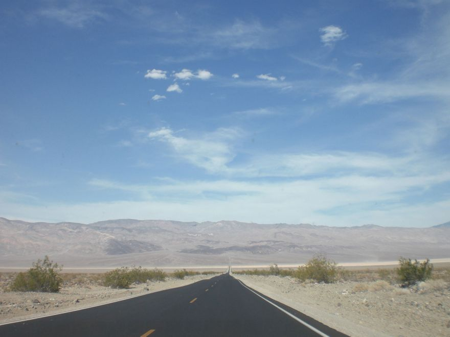 Driving in Death Valley National Park