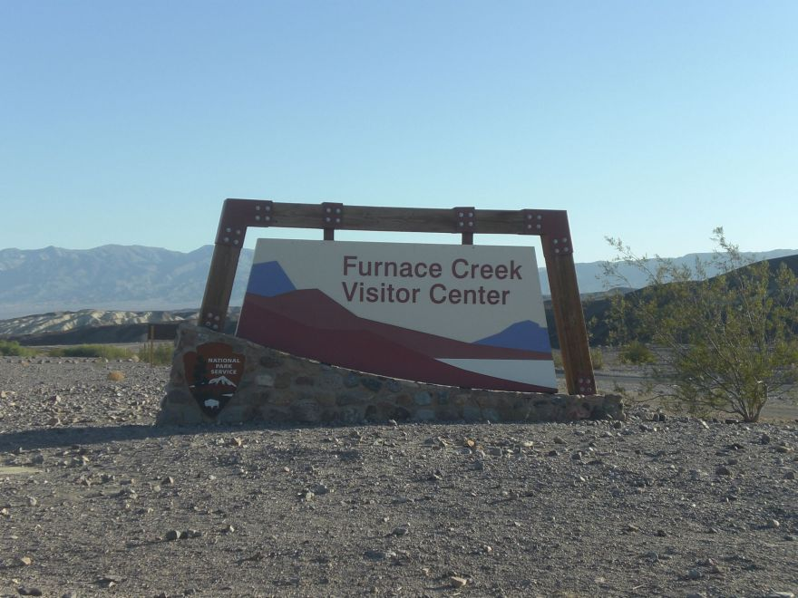 Entrance sign to Furnace Creek