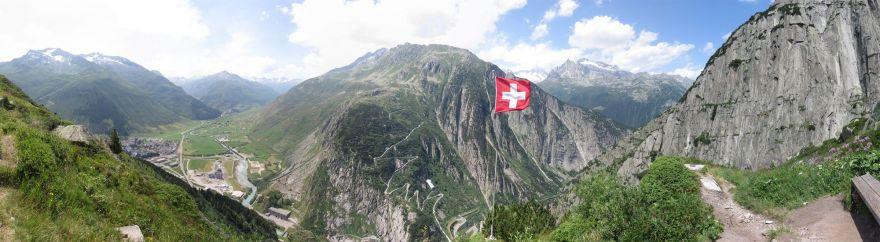 Panorama from Klettersteig Diavolo