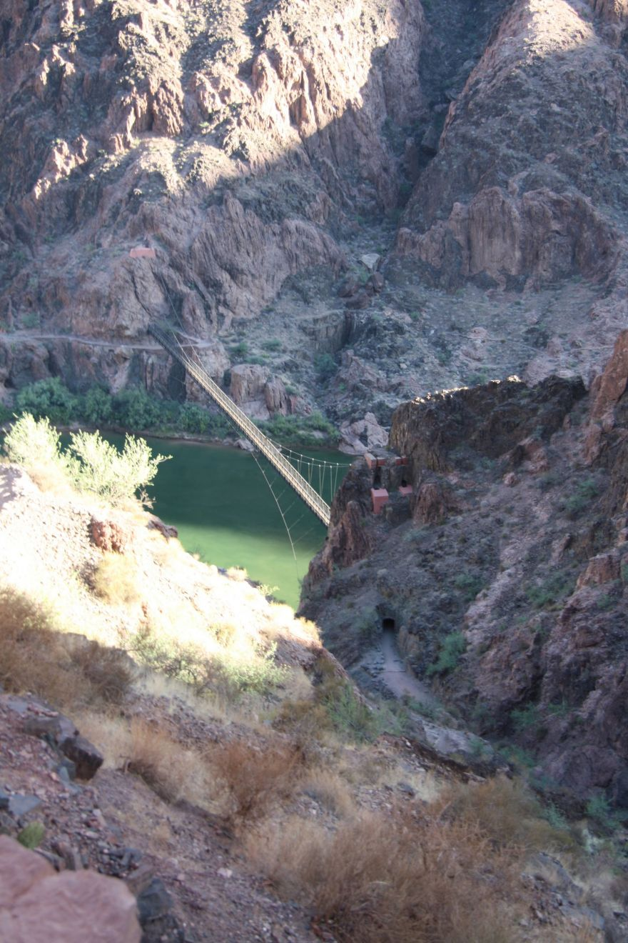 Looking down at Colorado River