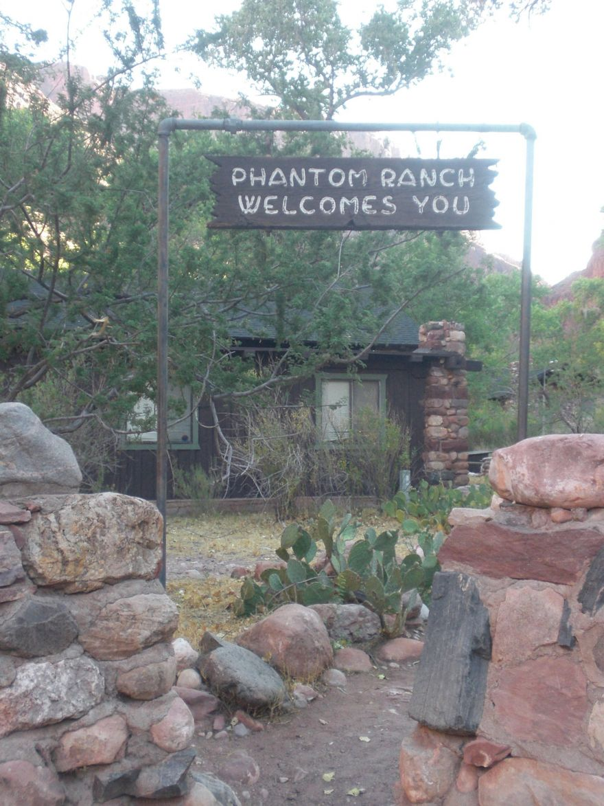 Sign at the Phantom Ranch