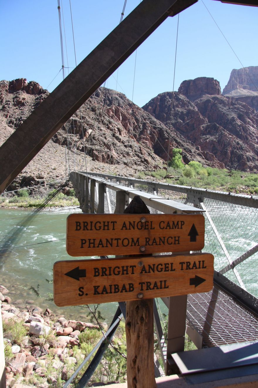 Signpost at the Colorado River