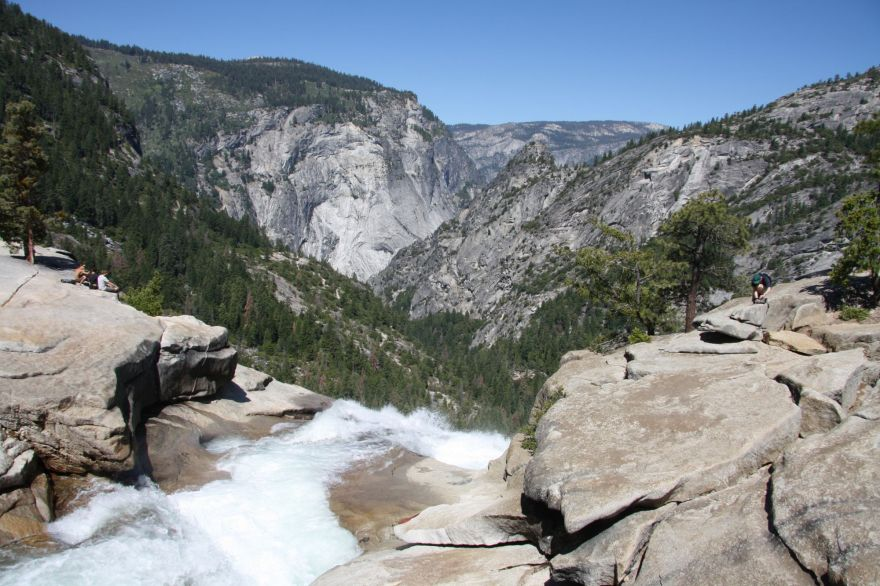 View from waterfall in Yosemite National Park