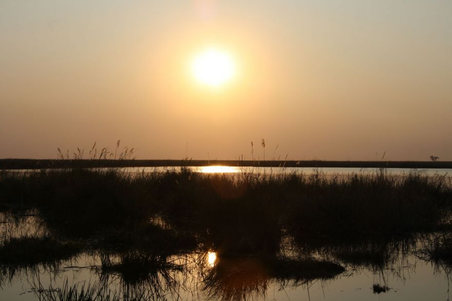 Sunset in Linyanti, Botswana