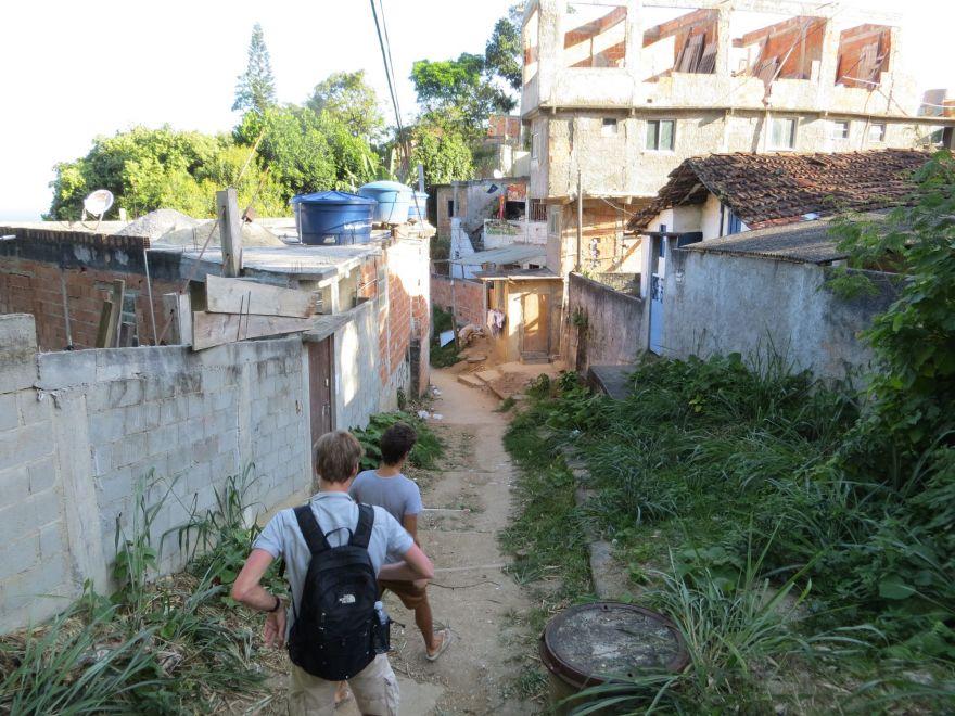 Walking in a favela