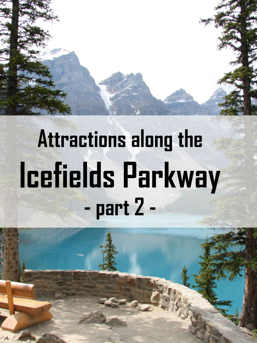 Attractions along the Icefields Parkway