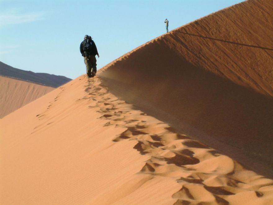 Walking on a dune