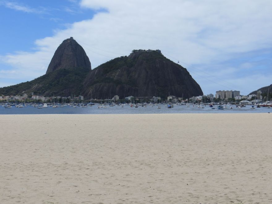 Sugarloaf Mountain from beach