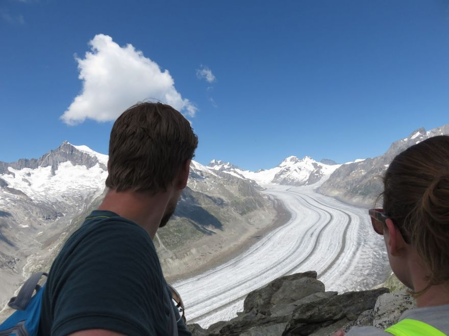 View at the Aletsch Glacier