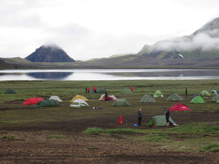 Campsite at Alftavatn